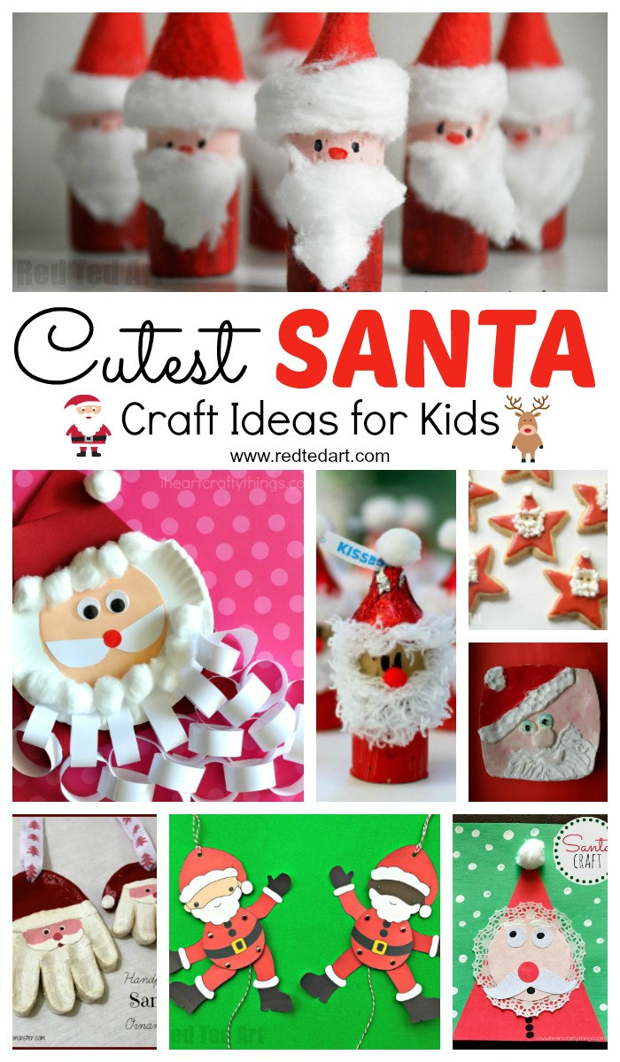 Christmas Arts And Craft Ideas For Toddlers  Easy Santa Craft Ideas for Kids Red Ted Art