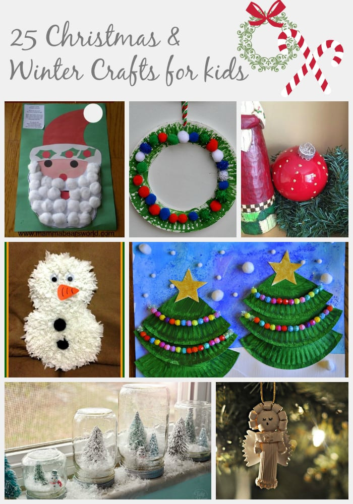 Christmas Arts And Craft Ideas For Toddlers  25 Christmas & Winter Crafts for Kids