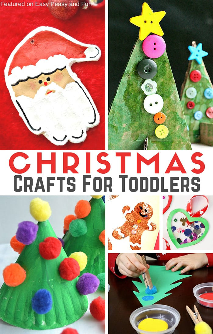 Christmas Arts And Craft Ideas For Toddlers  Simple Christmas Crafts for Toddlers Easy Peasy and Fun