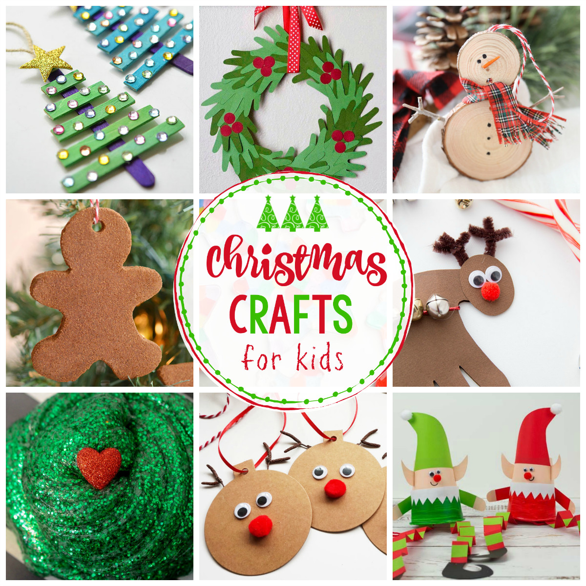 Christmas Arts And Craft Ideas For Toddlers  25 Easy Christmas Crafts for Kids Crazy Little Projects