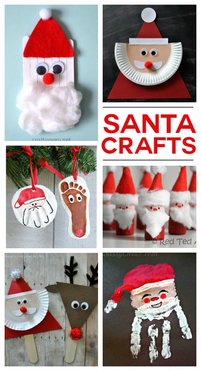 Christmas Arts And Craft Ideas For Toddlers  SANTA CRAFTS Kids Activities