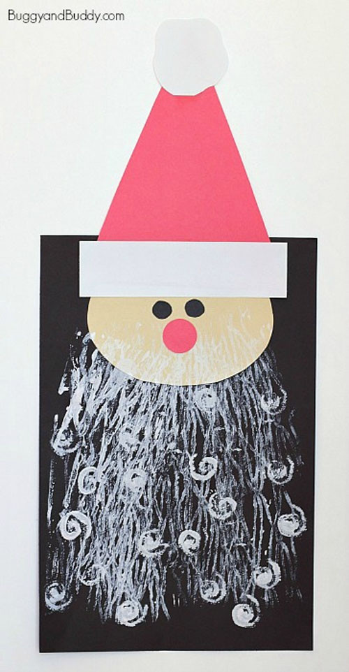Christmas Arts And Craft Ideas For Toddlers  25 Amazing Santa Kids Crafts to Try Right Now
