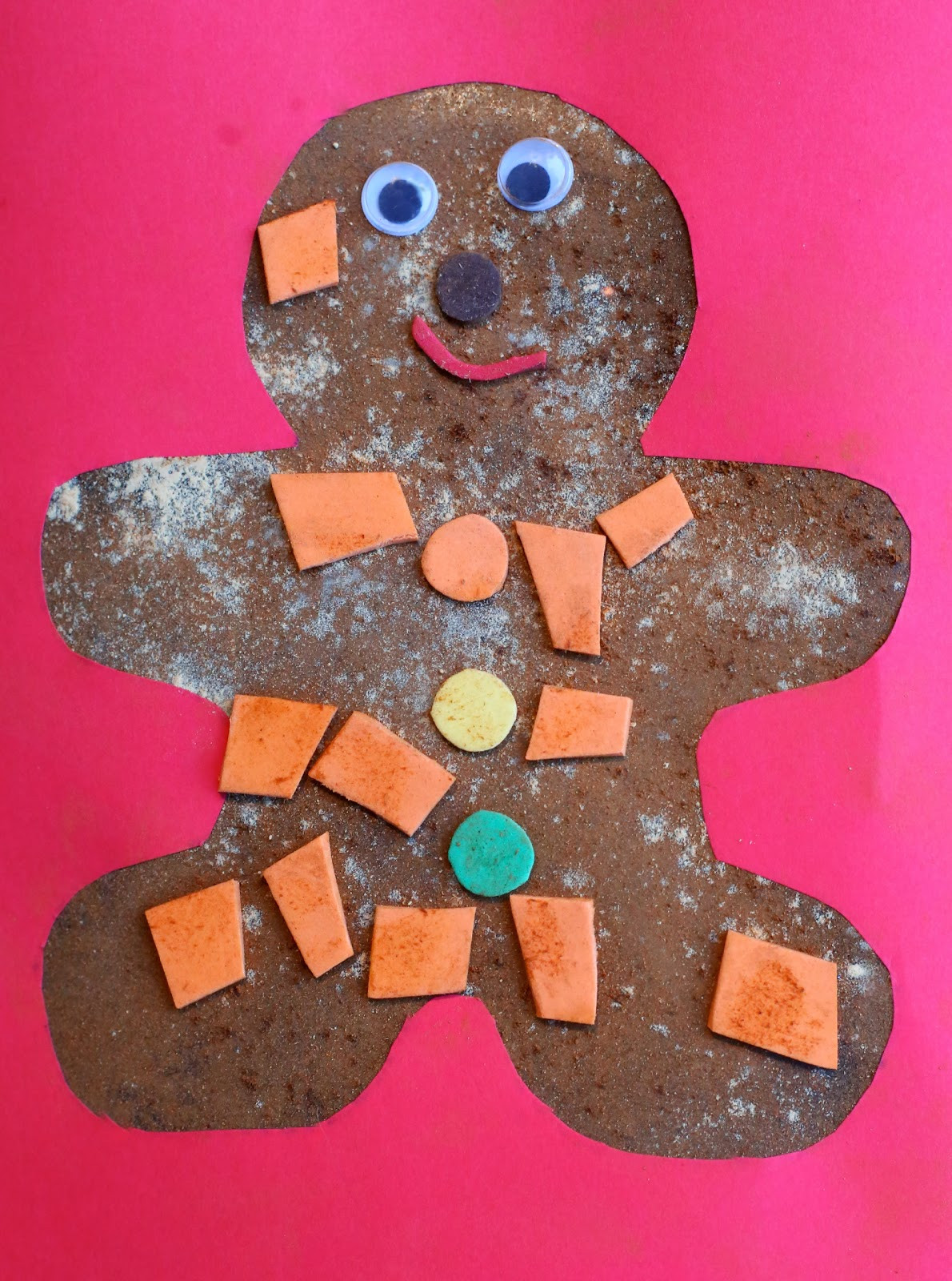 Christmas Arts And Craft Ideas For Toddlers  Christmas Craft for Kids Scented Gingerbread Man Art
