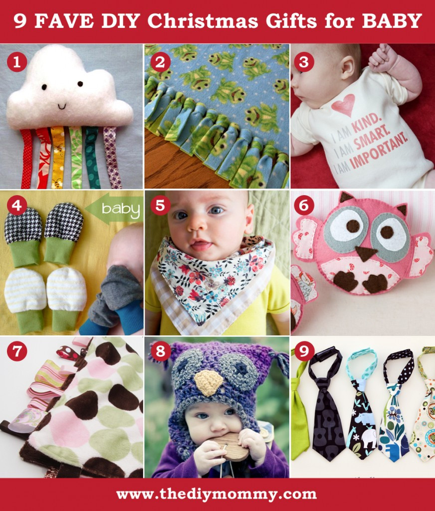 Christmas Gift Ideas From Baby  A Handmade Christmas DIY Baby Gifts