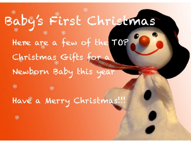 Christmas Gift Ideas From Baby  Baby First Christmas Gift Ideas
