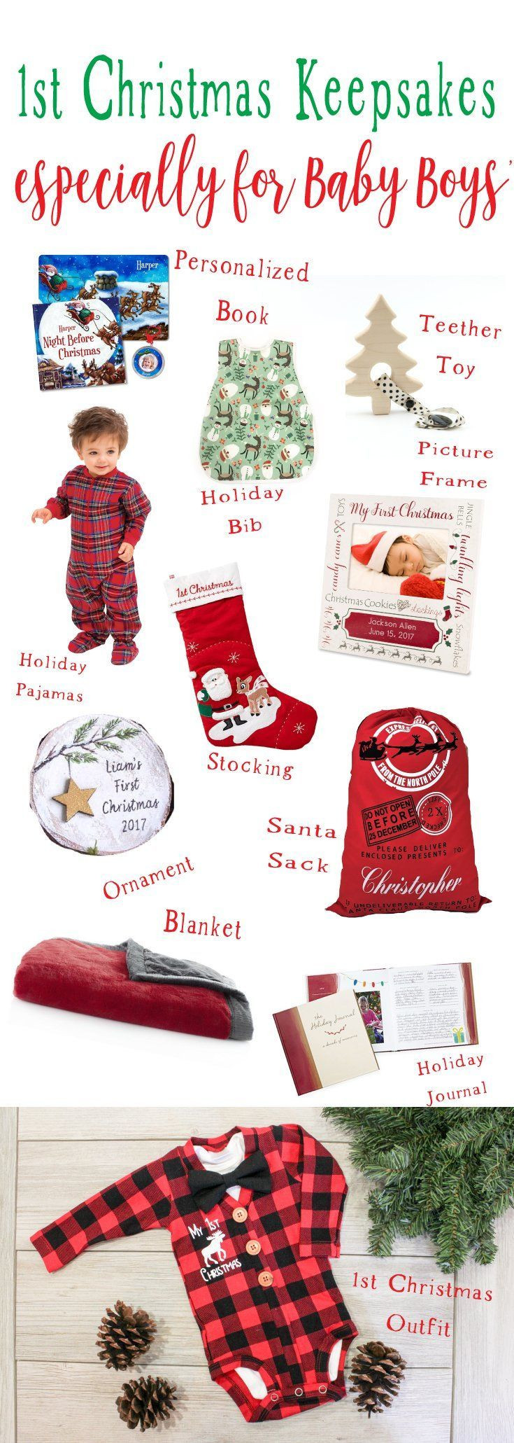 Christmas Gift Ideas From Baby  Baby Boy 1st Christmas Keepsake Ideas