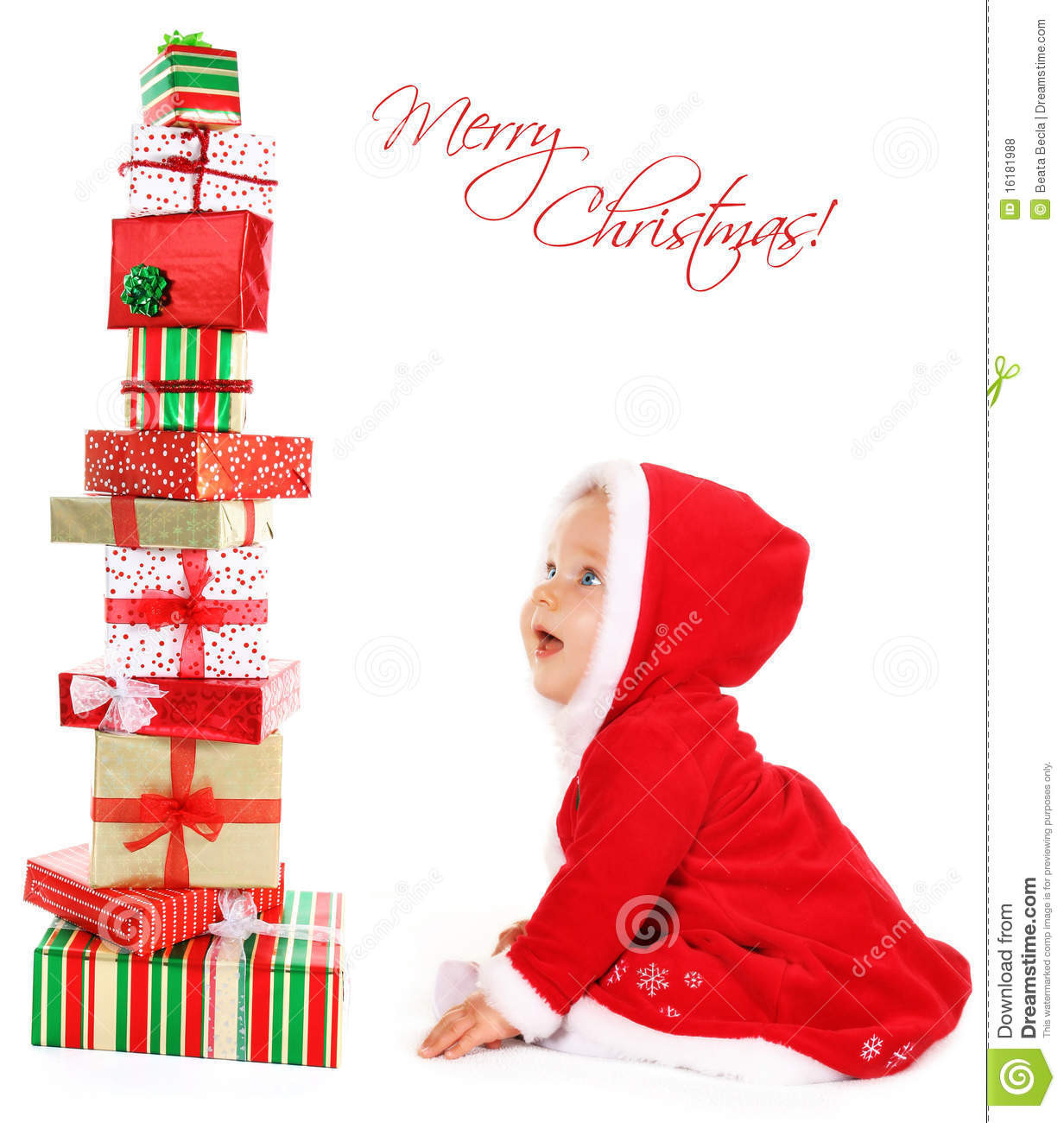 Christmas Gift Ideas From Baby  Christmas Baby With Gifts Royalty Free Stock s