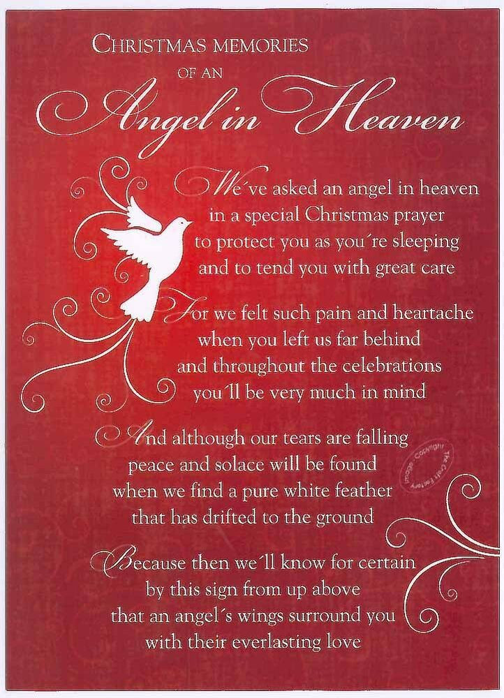 Christmas In Heaven Quotes  Grave Card XMAS Angel in Heaven FREE Holder CM14