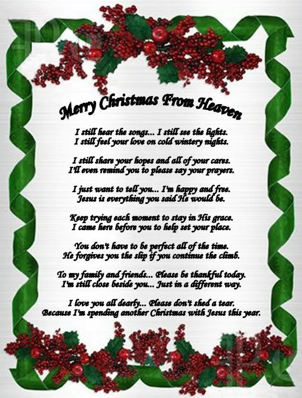 Christmas In Heaven Quotes  Merry Christmas In Heaven Quotes QuotesGram