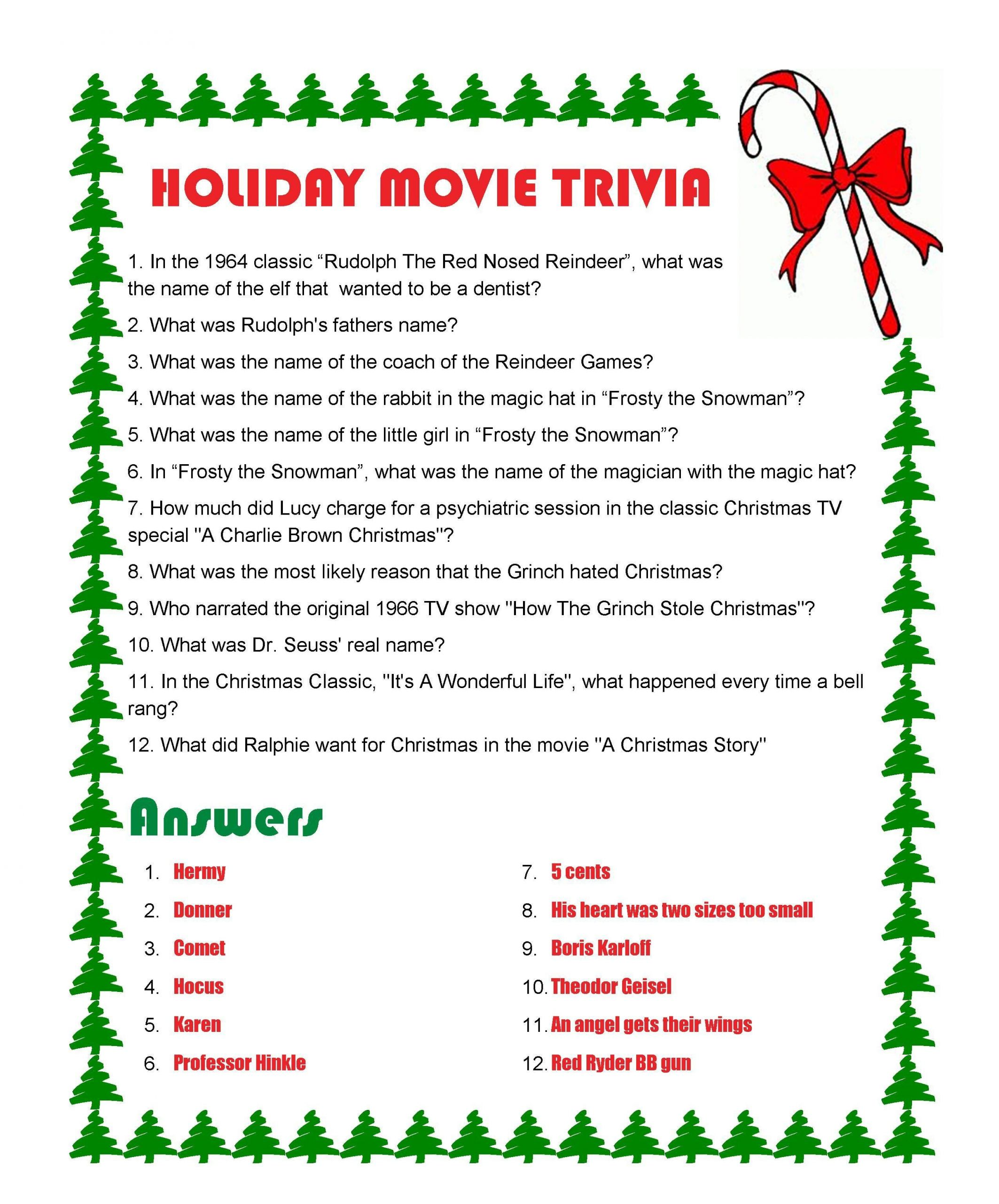 Christmas Movie Quote Quiz  Holiday Movie Trivia with answers