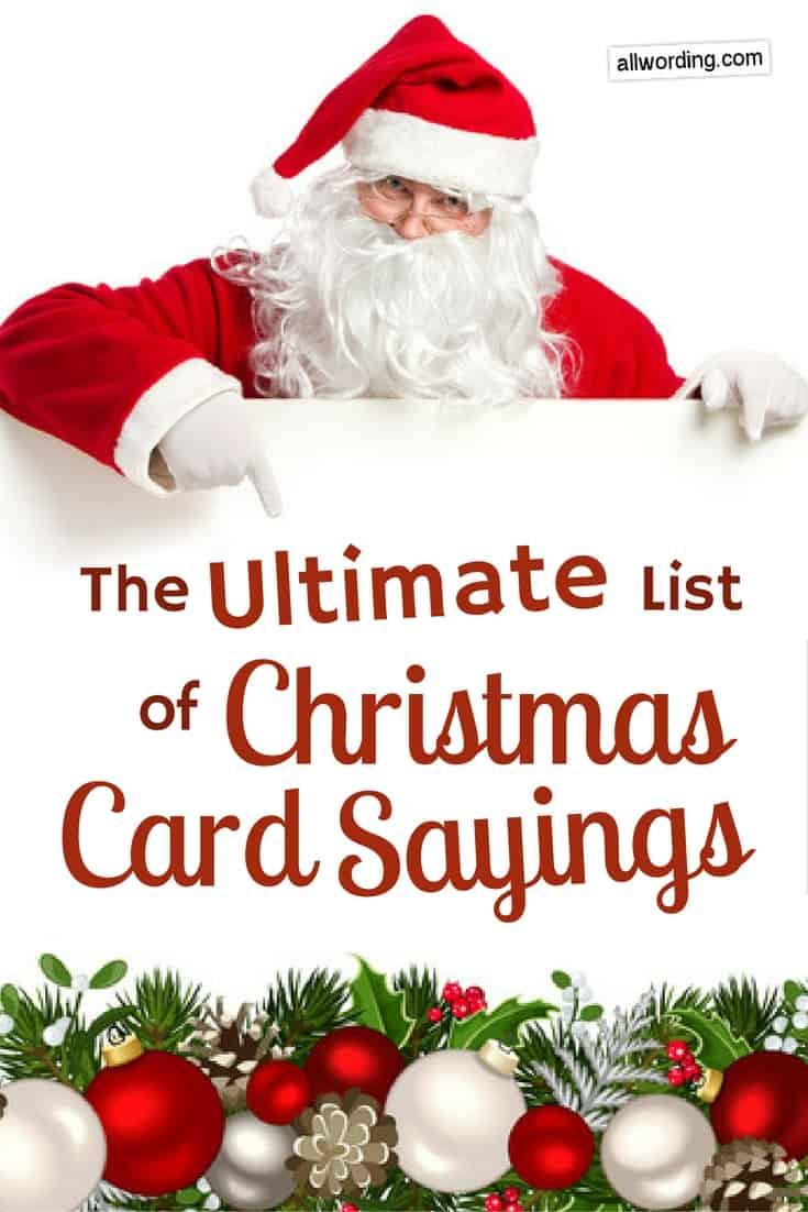 Christmas Picture Quotes  The Ultimate List of Christmas Card Sayings AllWording
