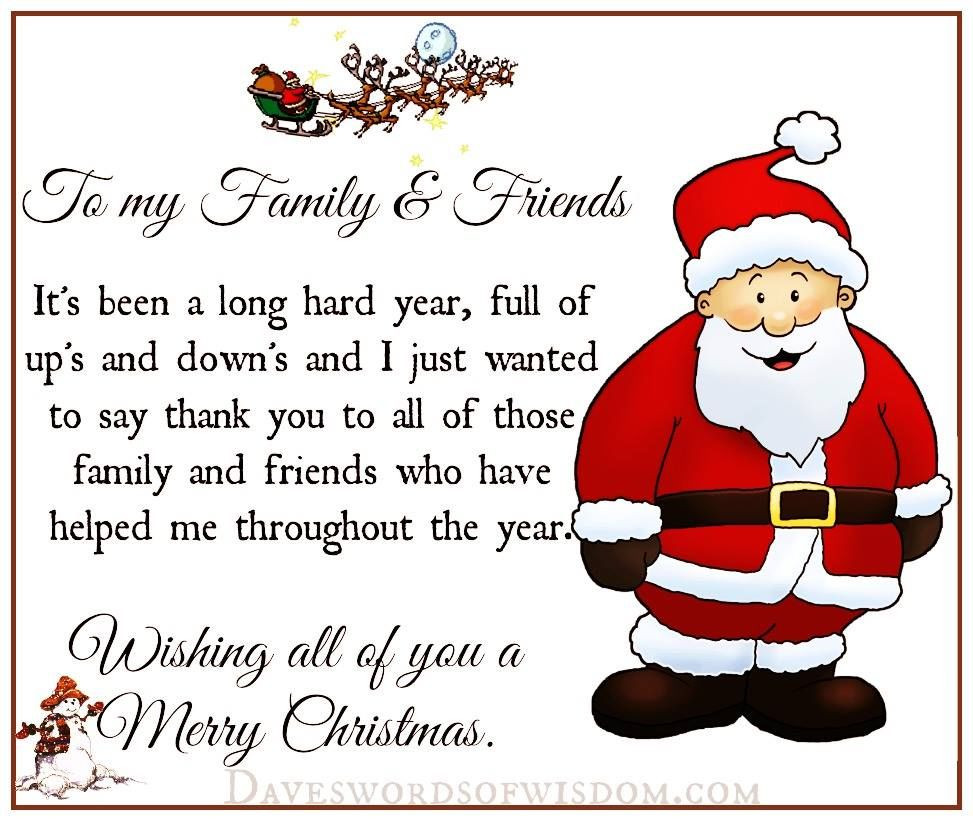 Christmas Quote Family  Christmas Quote To My Family And Friends s