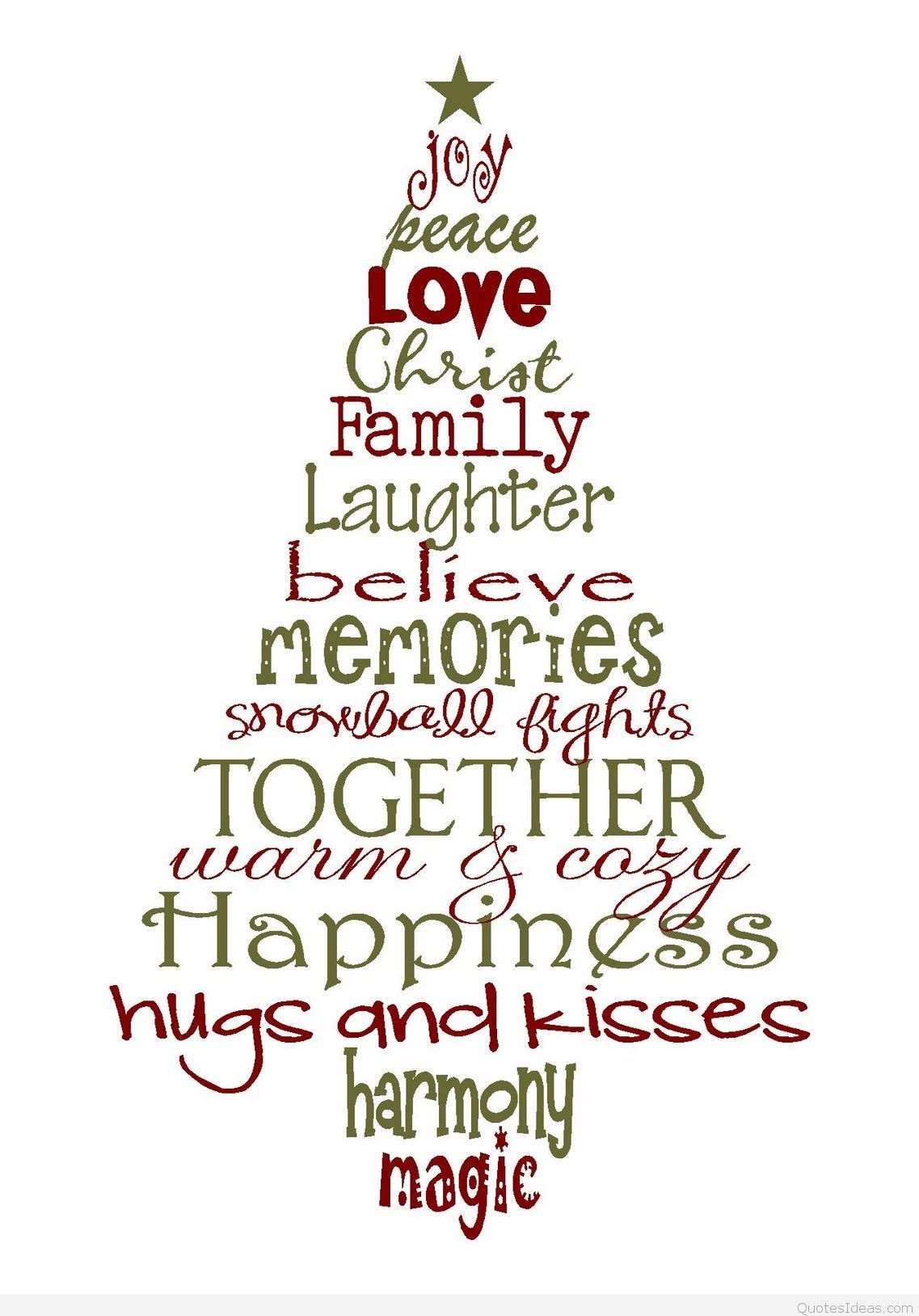 Christmas Quote Family  Christmas tree quote