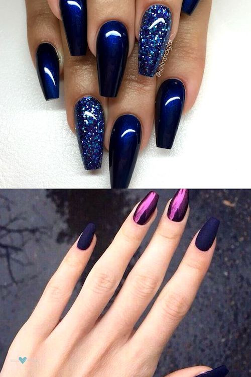 Chrome Glitter Nails  37 Snatching Nail Designs You Have To Try In 2020