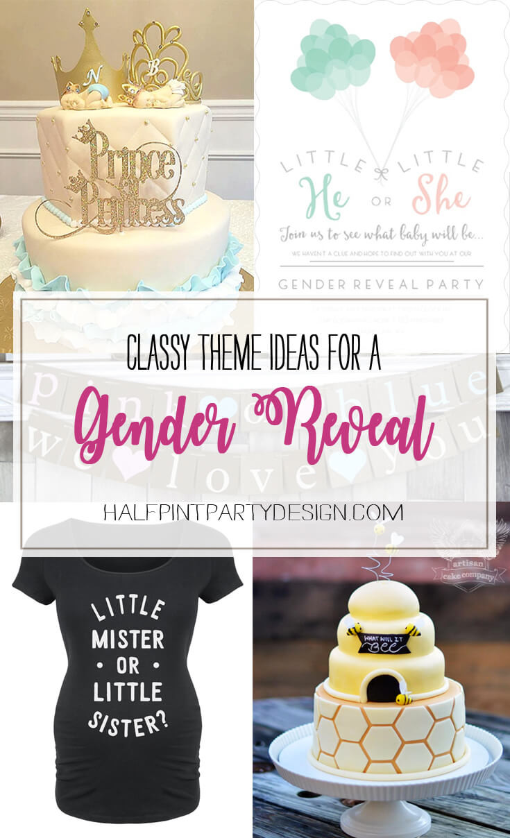 Classy Gender Reveal Party Ideas  7 Classy Gender Reveal Party Themes Halfpint Party Design