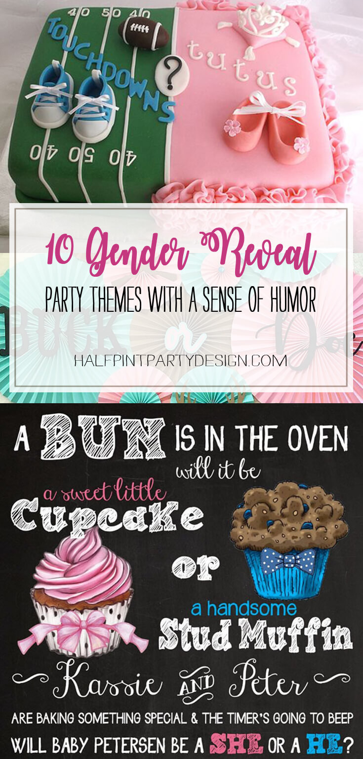 Classy Gender Reveal Party Ideas  Humorous Gender Reveal Party Ideas Halfpint Party Design
