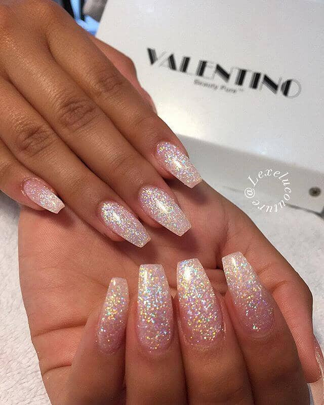 Clear Nails With Glitter  50 Fabulous Ways to Wear Glitter Nails Like a Boss