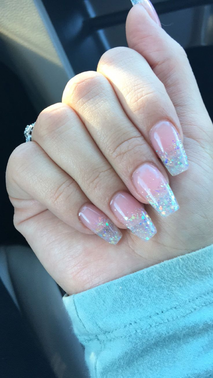 Clear Nails With Glitter  The 25 best Clear glitter nails ideas on Pinterest