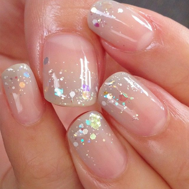 Clear Nails With Glitter  215 best Pretty Polished Piggies images on Pinterest