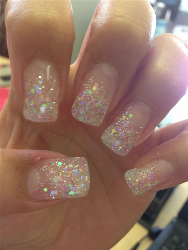 Clear Nails With Glitter  Best 25 Clear glitter nails ideas on Pinterest