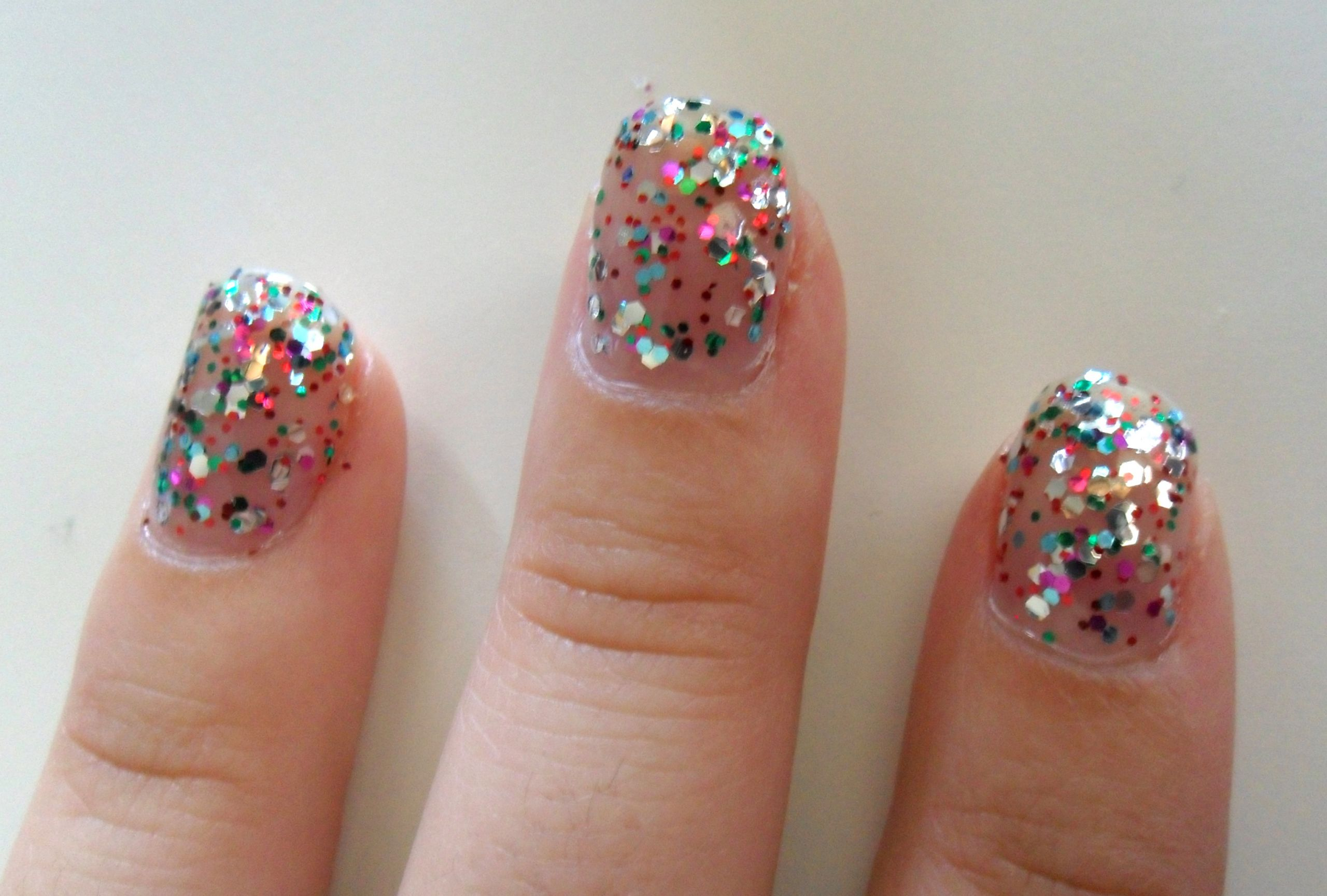 Clear Nails With Glitter  How to good results from cheap glitter nail polish