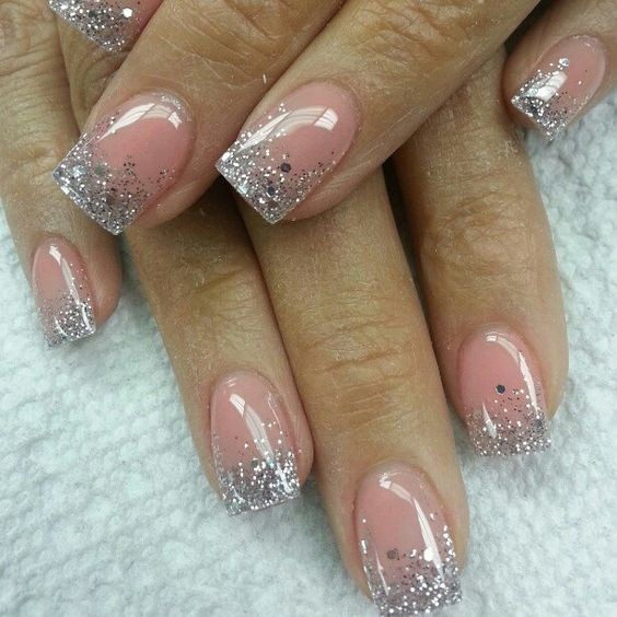 Clear Nails With Glitter  Top 60 Gorgeous Glitter Acrylic Nails