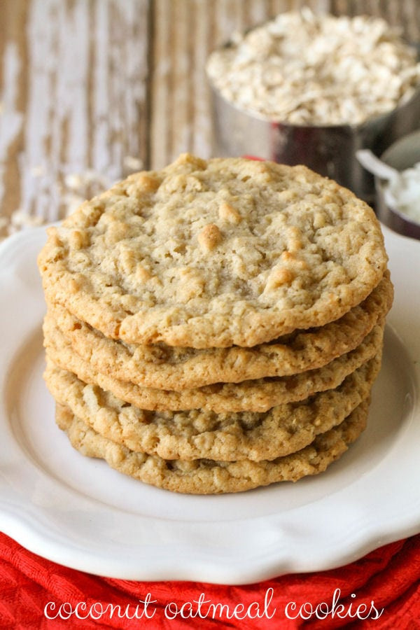Coconut Oatmeal Cookies  Oatmeal Coconut Cookies