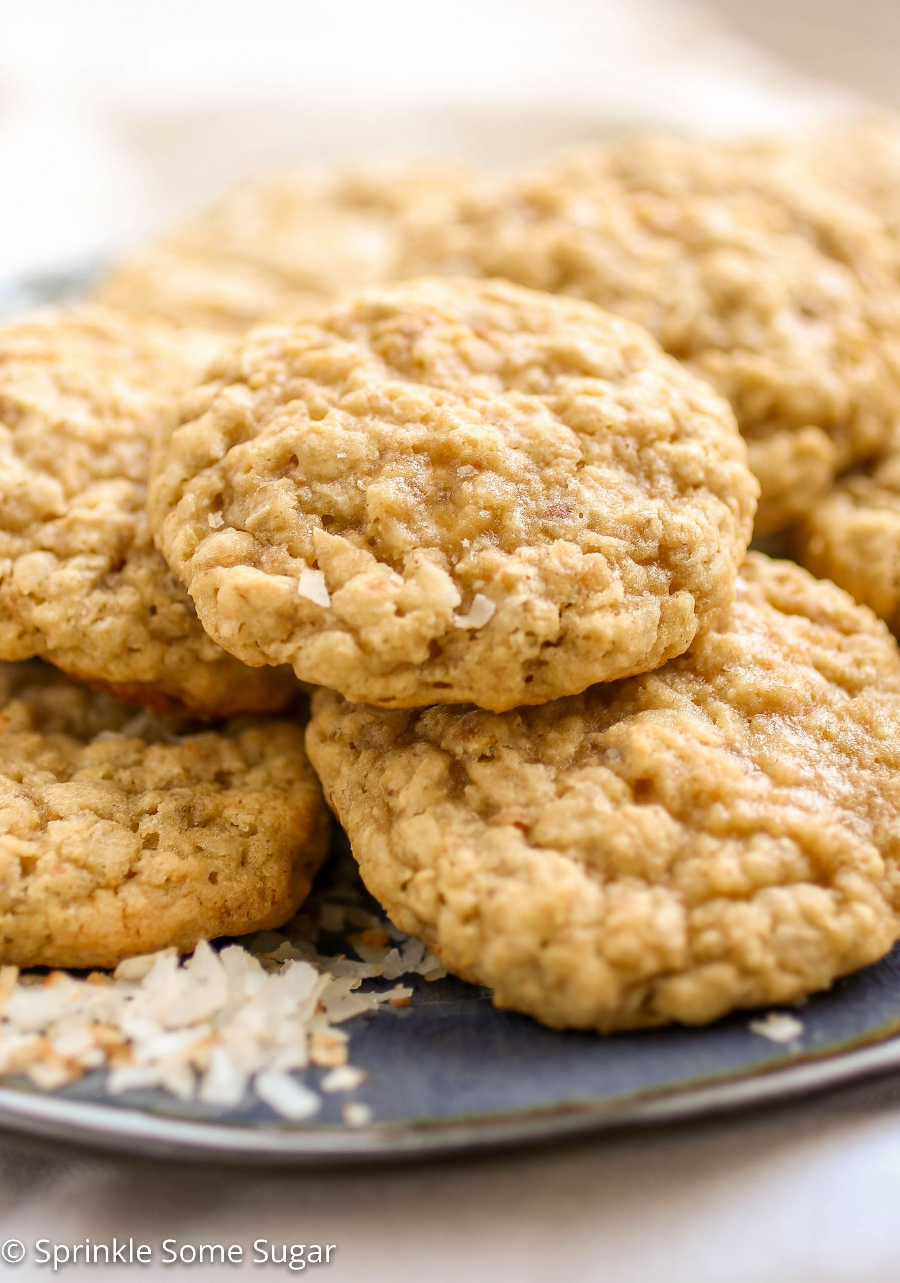Coconut Oatmeal Cookies  Toasted Coconut Oatmeal Cookies Sprinkle Some Sugar