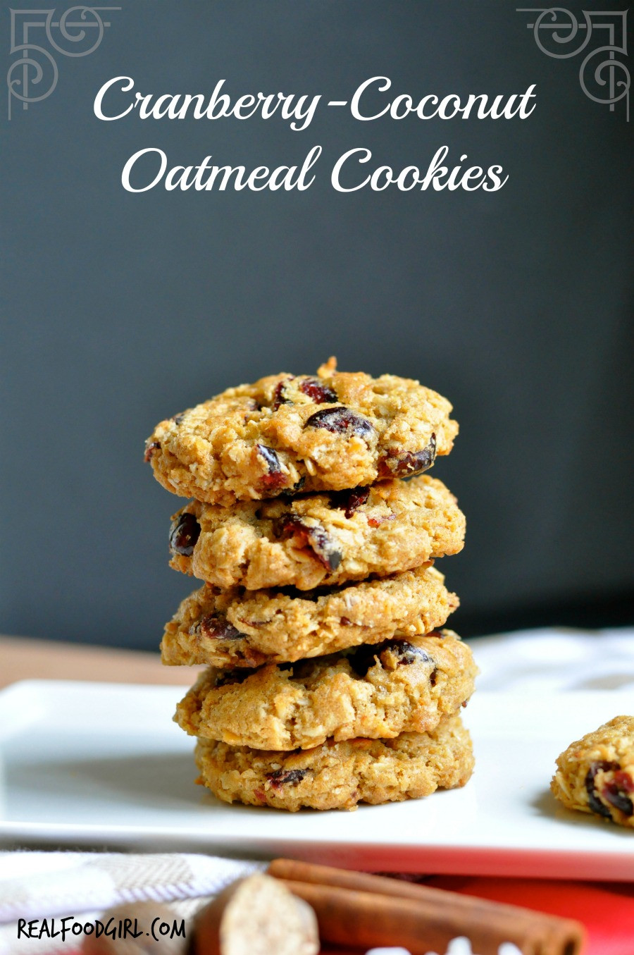 Coconut Oatmeal Cookies  Cranberry Coconut Oatmeal Cookies