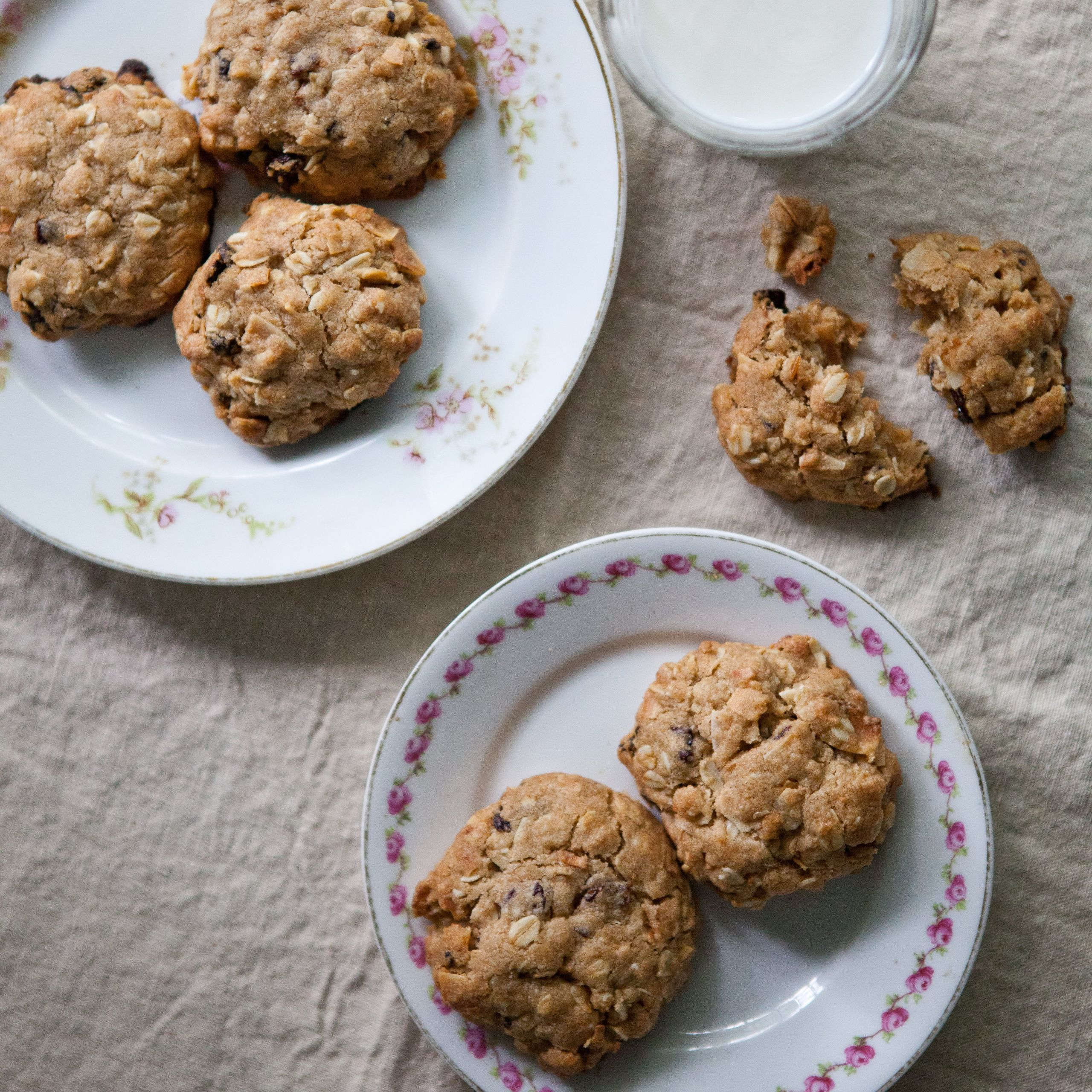 Coconut Oatmeal Cookies  Coconut Oatmeal Cookies with Dried Cherries