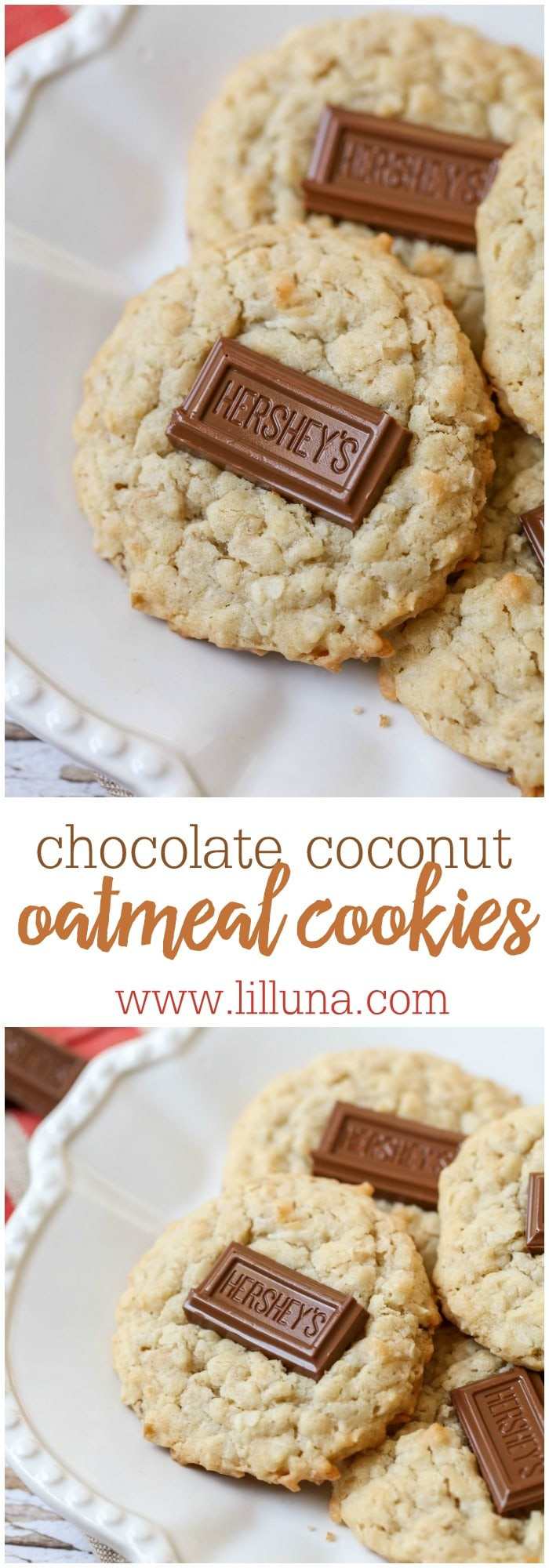 Coconut Oatmeal Cookies  Chocolate Coconut Oatmeal Cookies Lil Luna