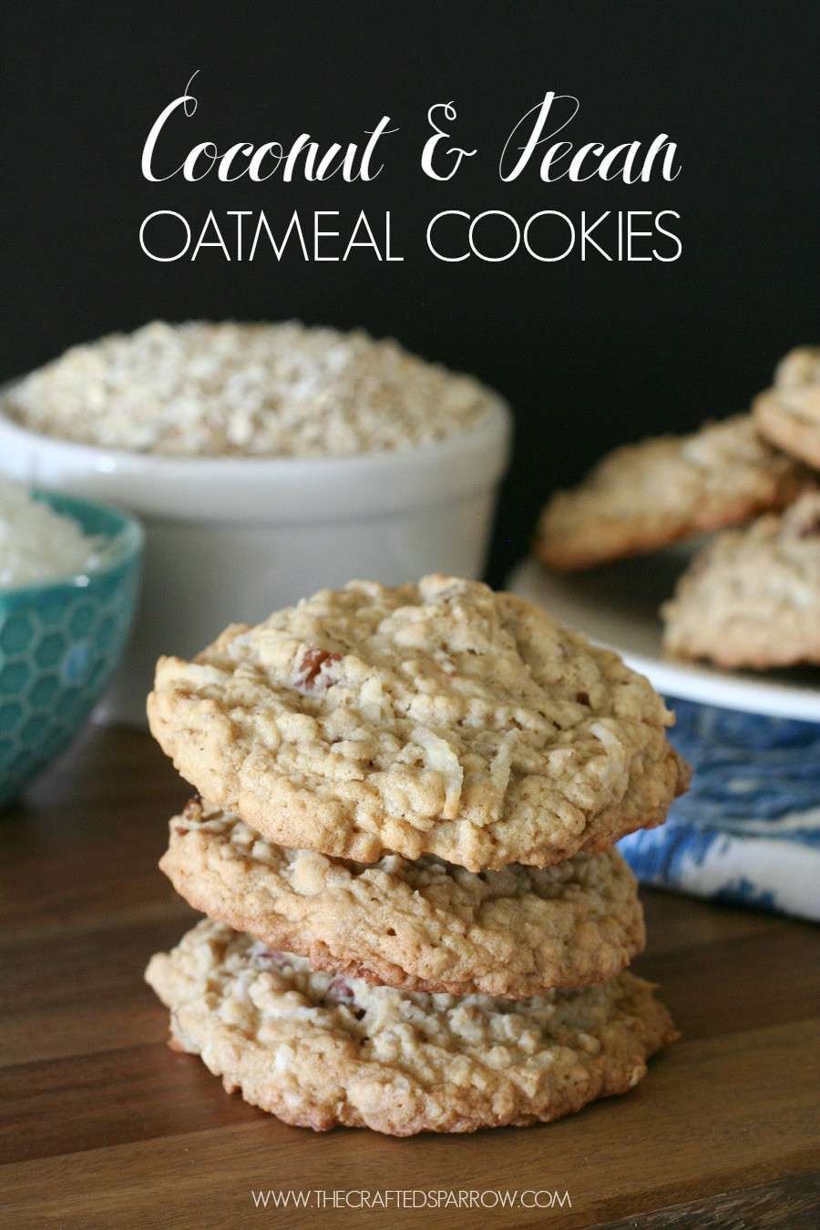 Coconut Oatmeal Cookies  Coconut & Pecan Oatmeal Cookies
