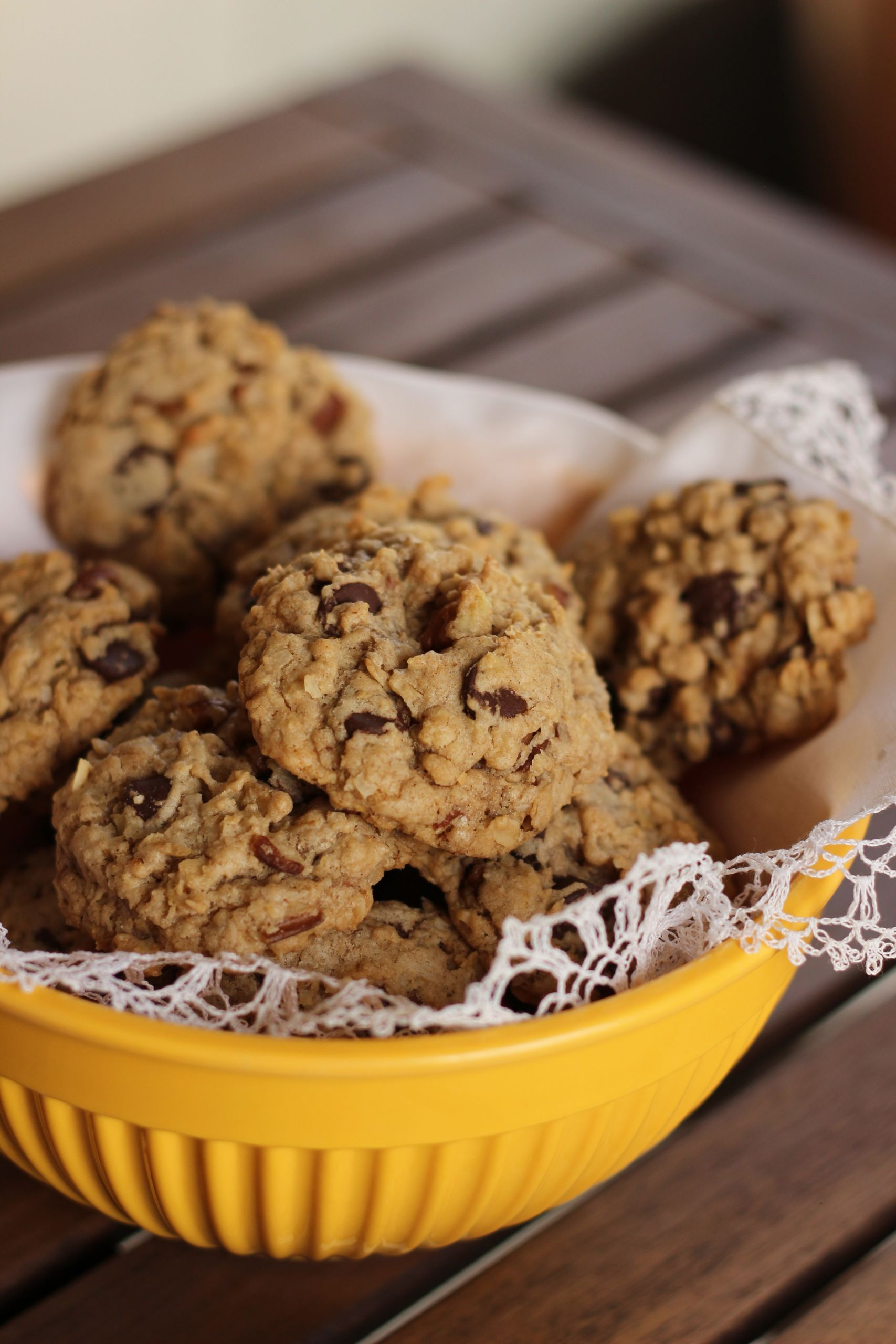 Coconut Oatmeal Cookies  Coconut Oatmeal Chocolate Chip Cookies Your Cup of Cake