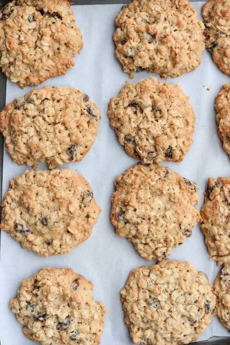 Coconut Oatmeal Cookies  Coconut Oatmeal Raisin Cookies VIDEO Valentina s Corner