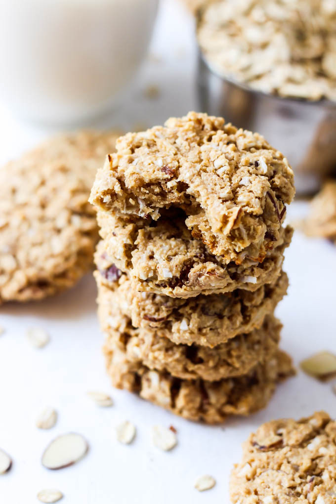 Coconut Oatmeal Cookies  Almond Coconut Oatmeal Cookies vegan & gluten free