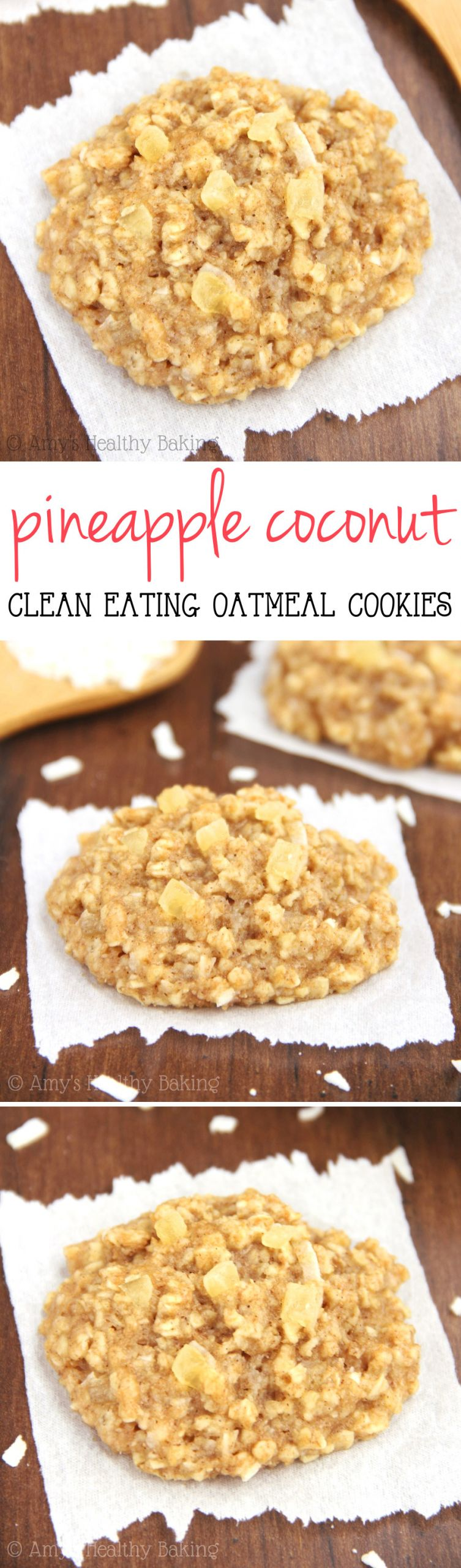 Coconut Oatmeal Cookies  Pineapple Coconut Oatmeal Cookies