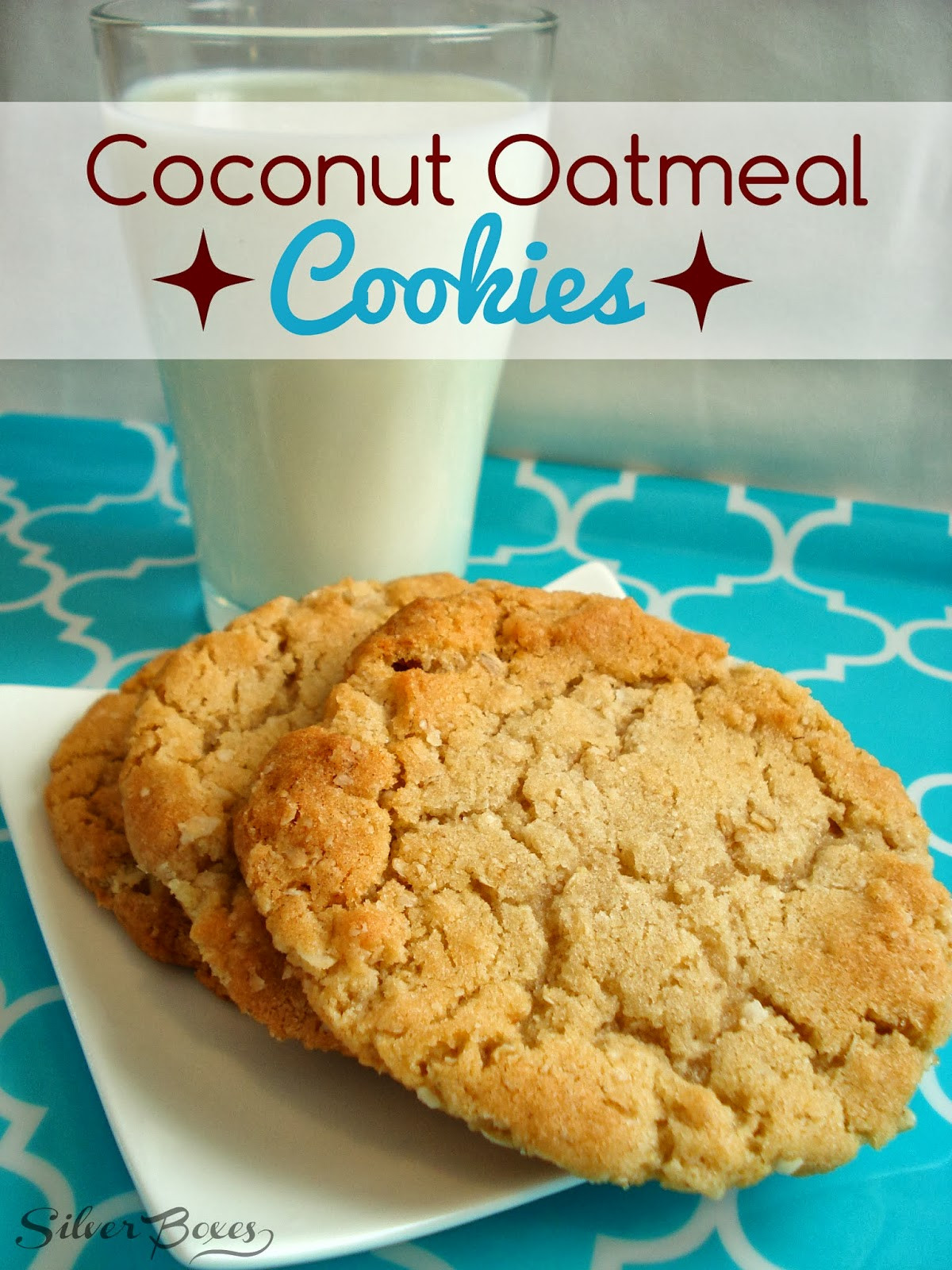 Coconut Oatmeal Cookies  Silver Boxes Coconut Oatmeal Cookies A Great Lunchbox