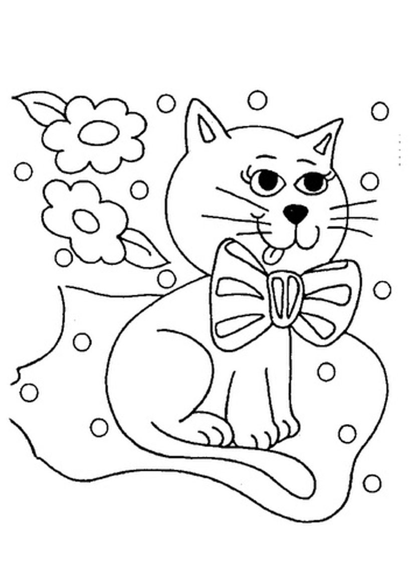 Coloring Kids  pets coloring pages