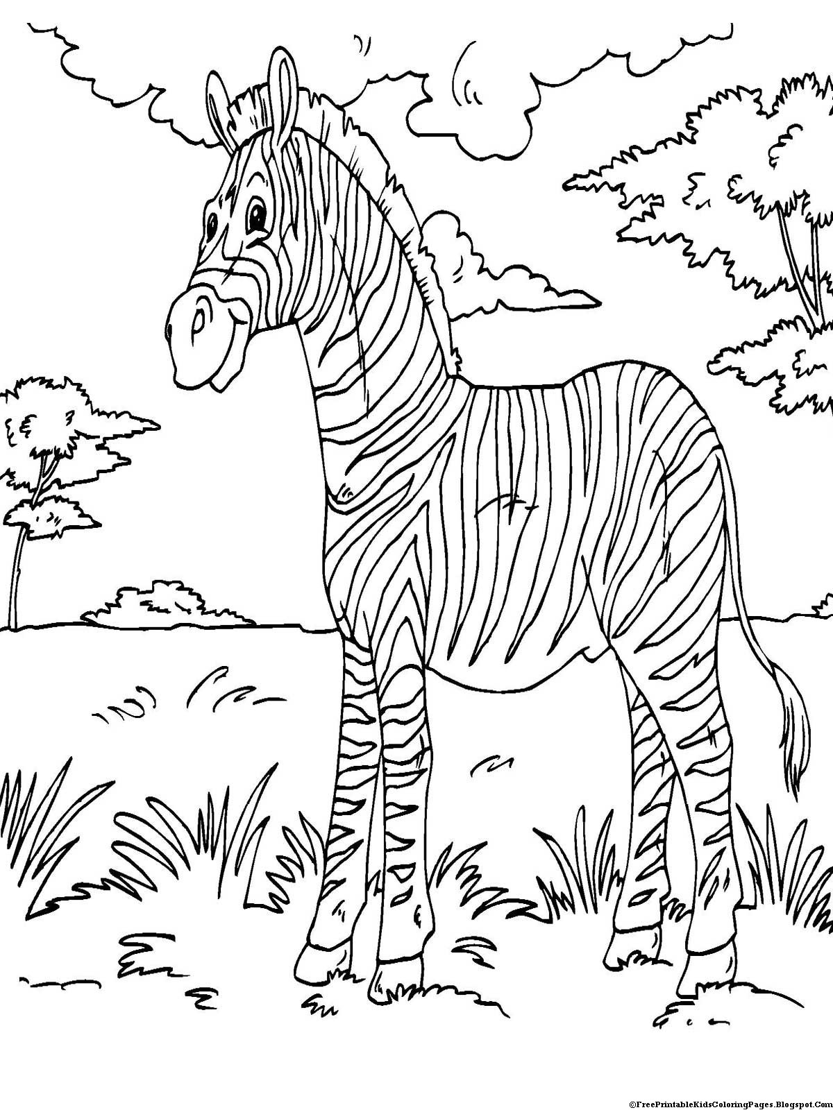Coloring Kids  Zebra Coloring Pages Free Printable Kids Coloring Pages