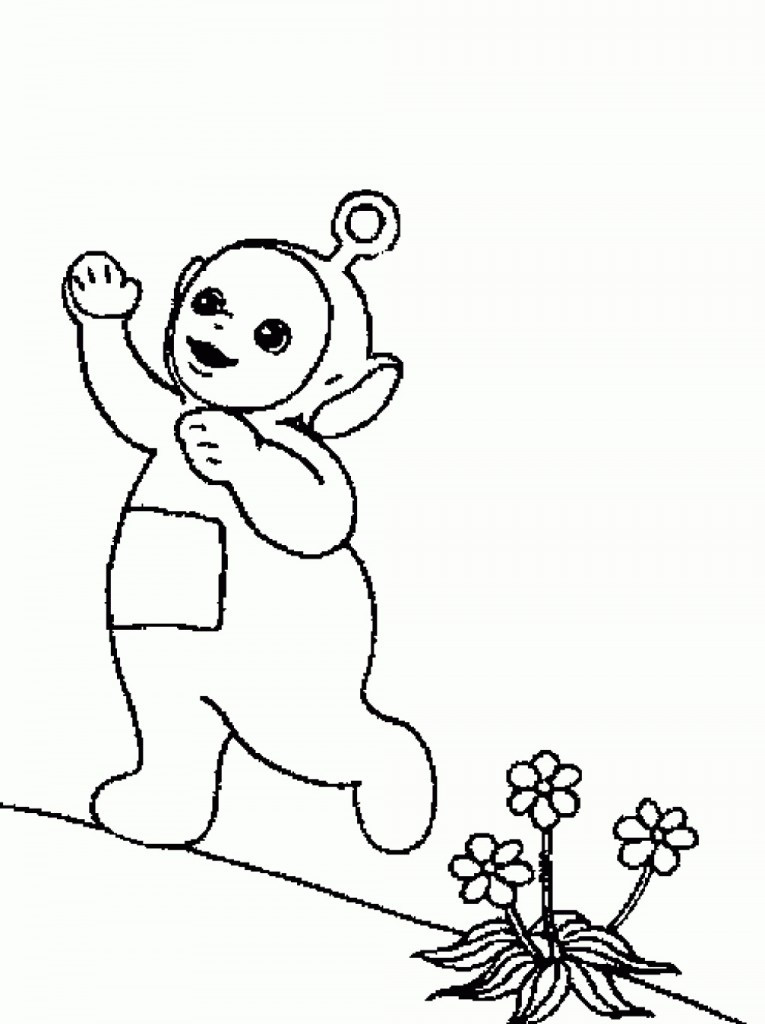 Coloring Pages For Kids Printables  Free Printable Teletubbies Coloring Pages For Kids