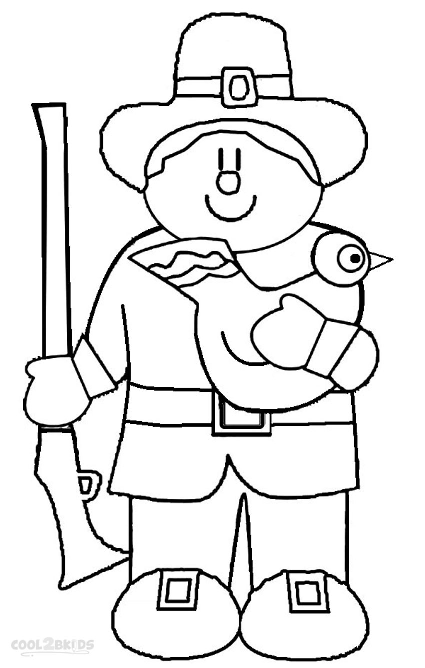 Coloring Pages For Kids Printables  Printable Pilgrims Coloring Pages For Kids