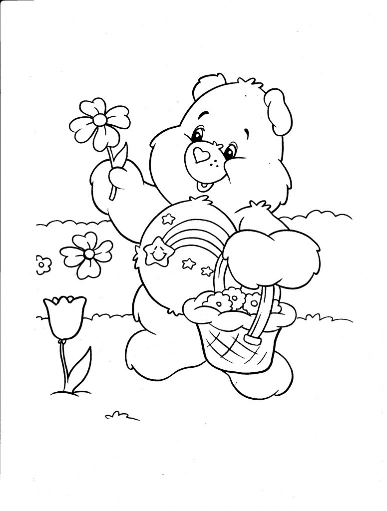 Coloring Pages For Kids Printables  Free Printable Care Bear Coloring Pages For Kids