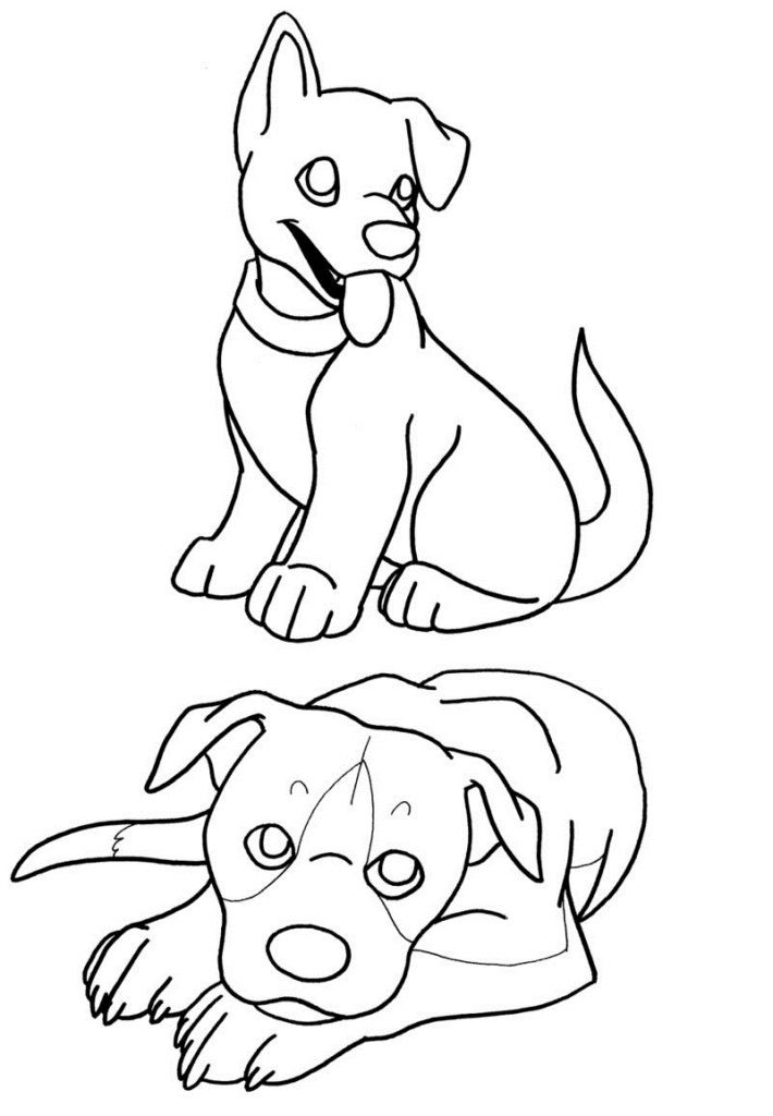 Coloring Pages For Kids Printables  Free Printable Puppies Coloring Pages For Kids