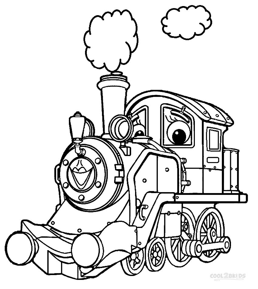 Coloring Pages For Kids Printables  Printable Chuggington Coloring Pages For Kids