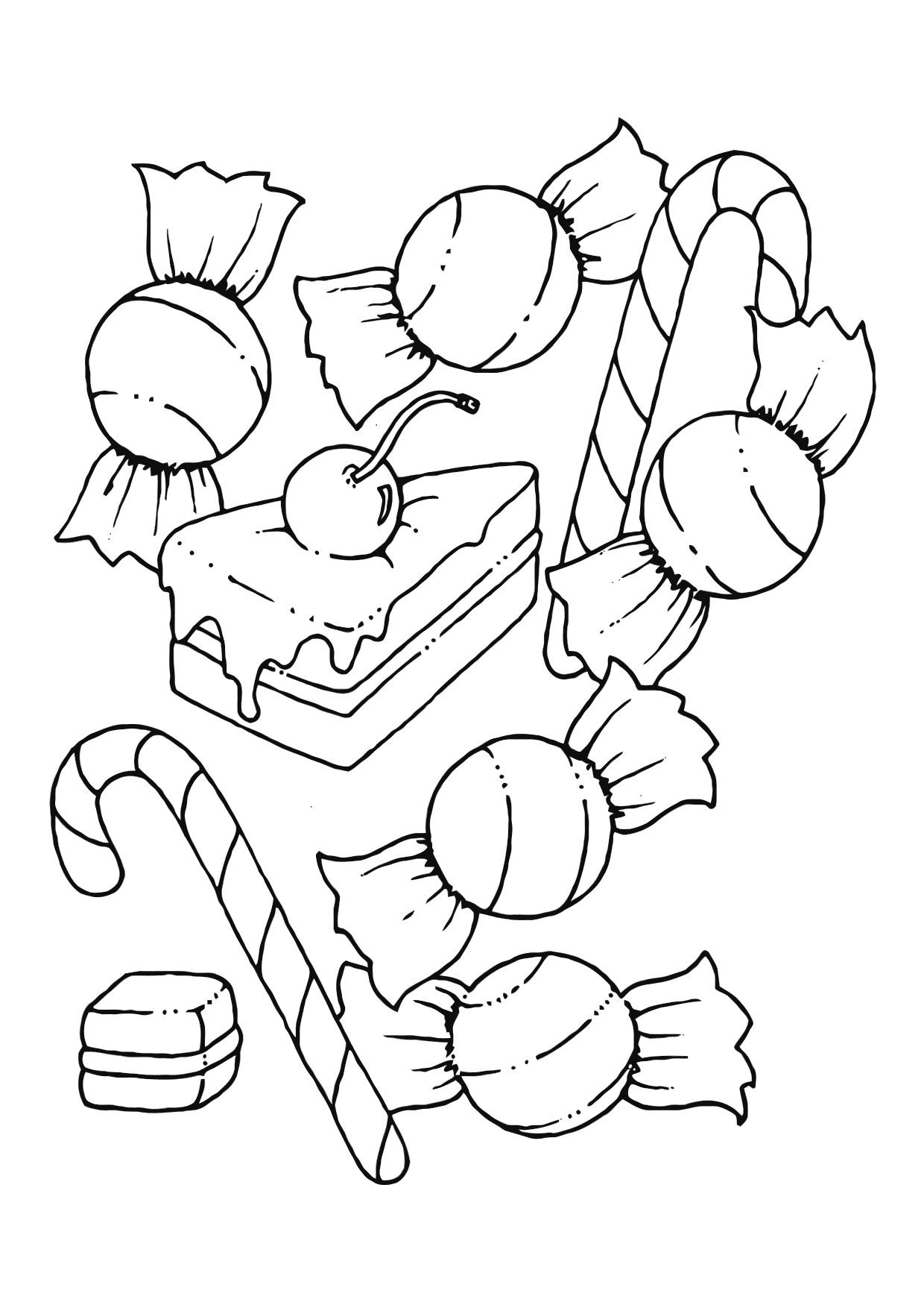 Coloring Pages For Kids Printables  Free Printable Candy Coloring Pages For Kids