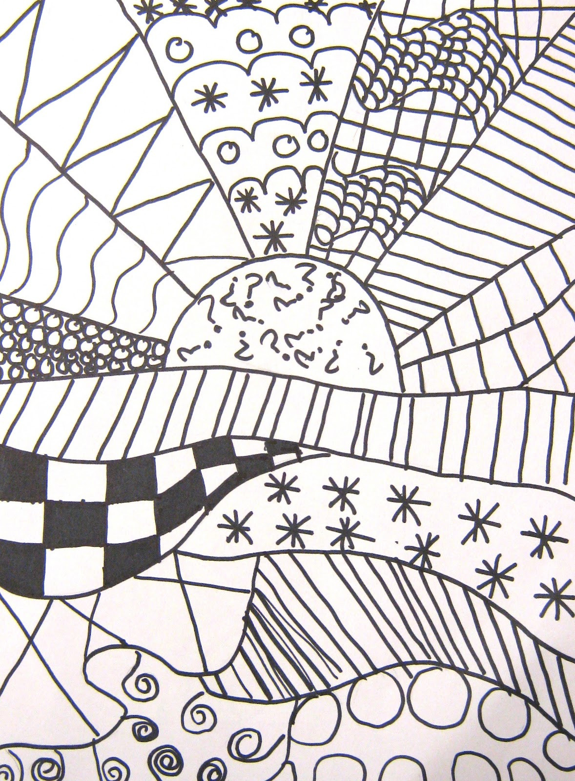 Coloring Patterns For Kids  Art in the Middle hool Pattern Crazy