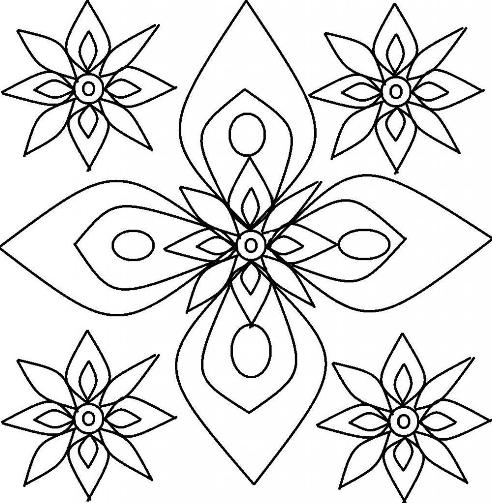 Coloring Patterns For Kids  Free Printable Rangoli Coloring Pages For Kids