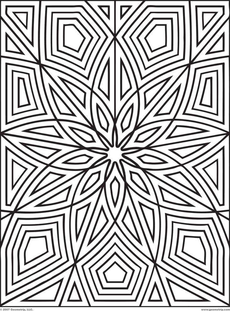 Coloring Patterns For Kids  25 best images about GEOMETRIC COLORING PATTERNS on