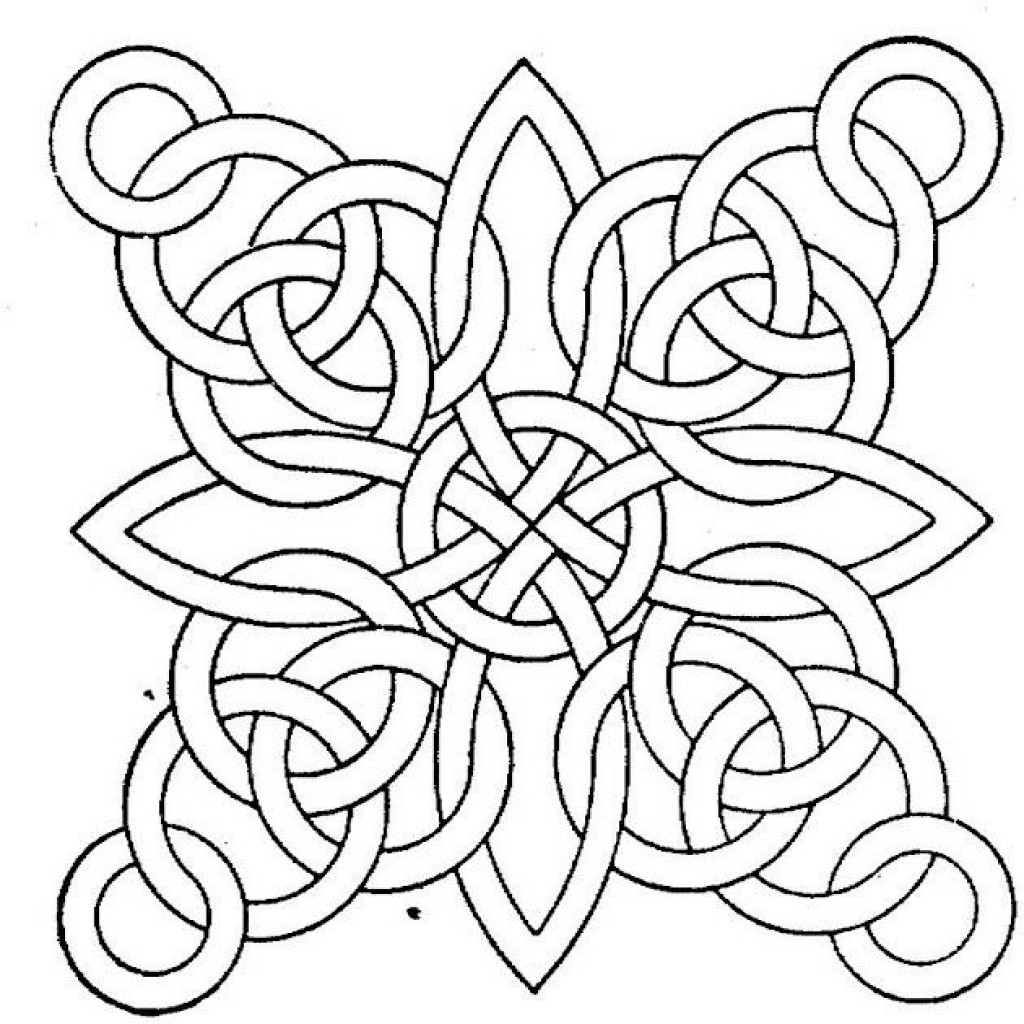 Coloring Patterns For Kids  Free Printable Geometric Coloring Pages for Adults
