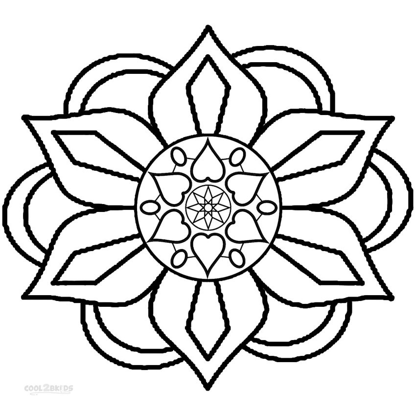 Coloring Patterns For Kids  Printable Rangoli Coloring Pages For Kids
